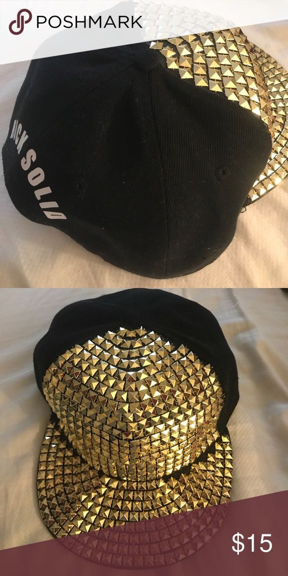 "Rock Solid Official Hat Never worn SnapBack hat with gold in the front and the words ""Rock Solid"" in the back. Accessories Hats"