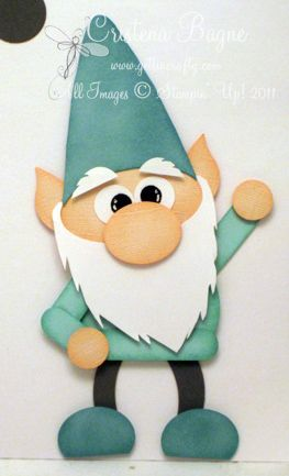 Gnome... going to try to make this with SU punches: Christmas Cards, Gnomes Punchart, Punch Ideas, Cards Christmas, Paper Punch, Punch Art, Punch Cards, Paper Crafts, Su Punch