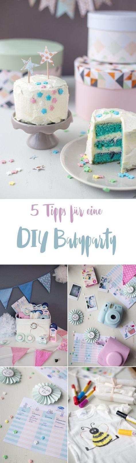 5 Tipps für eure DIY Babyparty - DIY Ideen, Tipps für Spiele, Rezepte und Deko - Inspiration für eine Baby Shower - inklusive GiveAway für einen Korb mit allem was ihr für eure Party braucht!