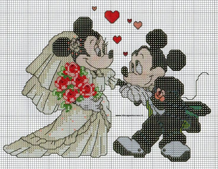 MINNIE E TOPOLINO SPOSI PUNTO CROCE by syra1974 on deviantART