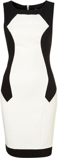 Top Shop England Illusion Pencil Dress - Lyst