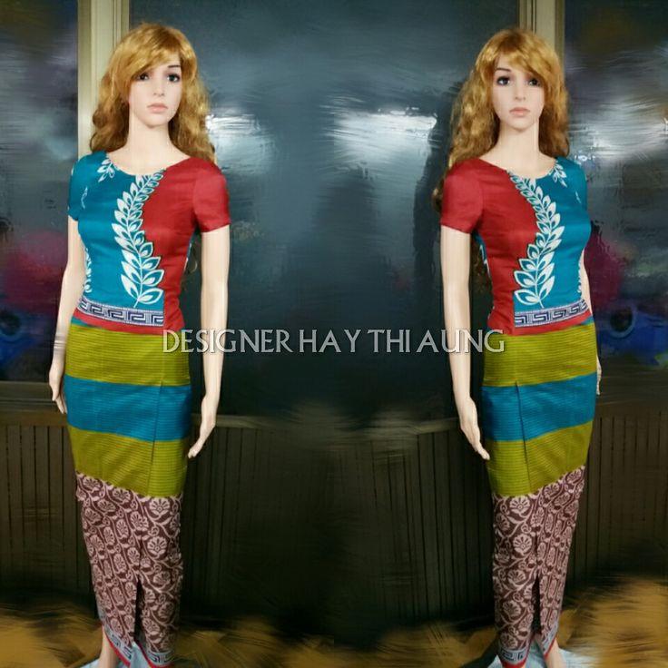 Sari Fabirc to Myanmar Dress
