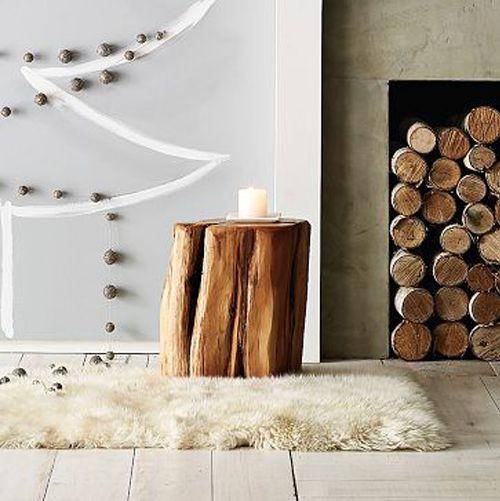 Tree Stump Table! Mesas con troncos!