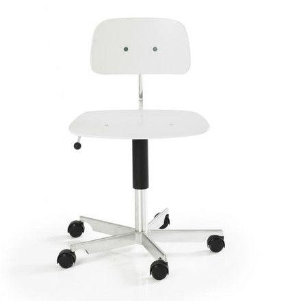 Engelbrechts - Kevi 2003 Bürostuhl, lackiert weiß Weiß T:58 H:58 B:58
