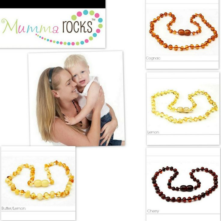 Mumma Rocks Amber teething necklaces available soon at BabyBestBargains!