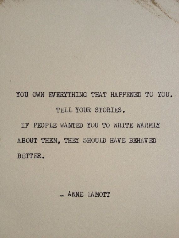 THE ANNE LAMOTT: Typewriter quote on 5x7 cardstock by WritersWire