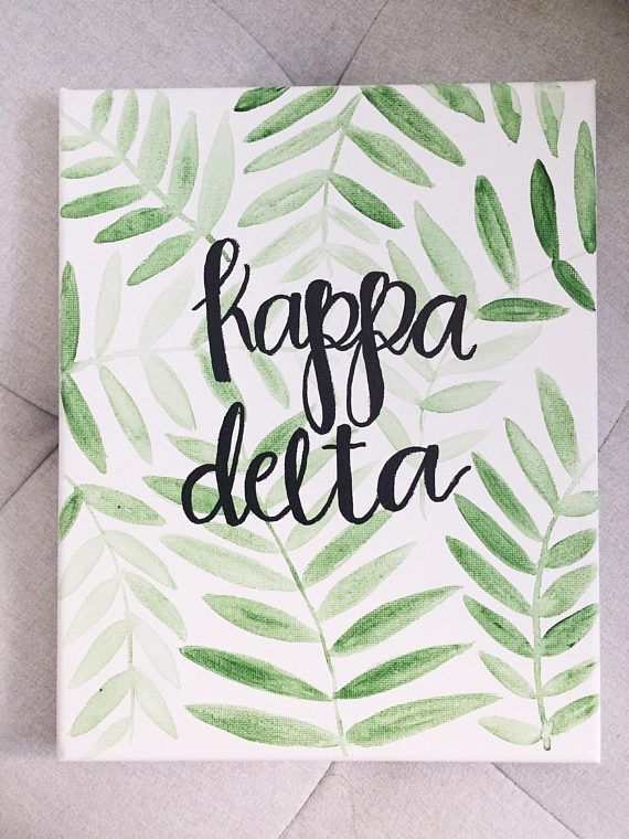 CUSTOM sorority canvas/sign leaf alpha phi kappa delta