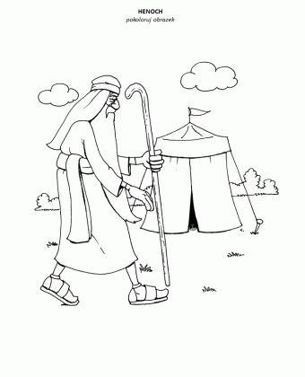 Henoch – kolorowanka – Moja Biblia