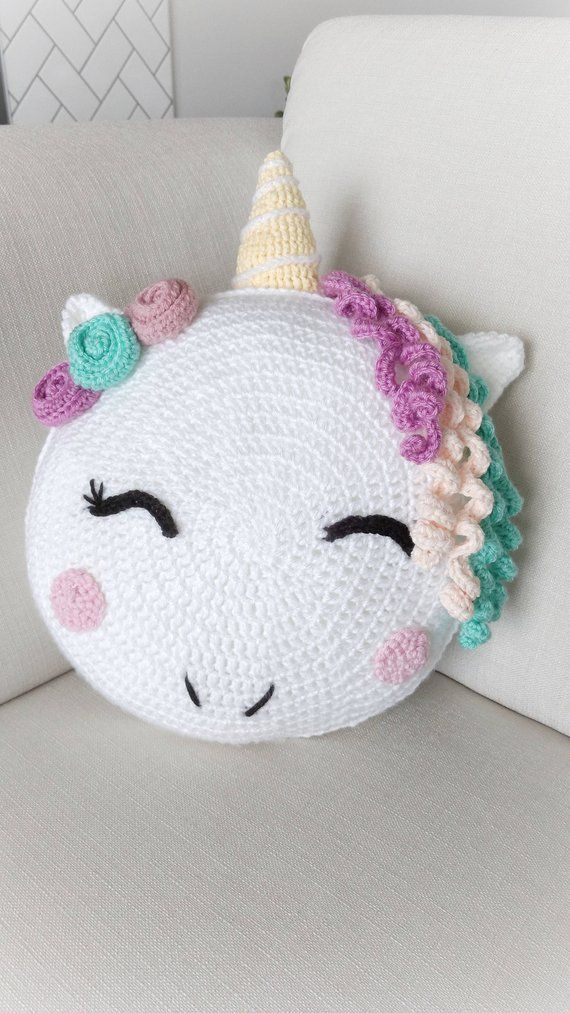 Unicorn Crochet Pattern - Crochet Amigurumi Pattern - Crochet Pillow ...