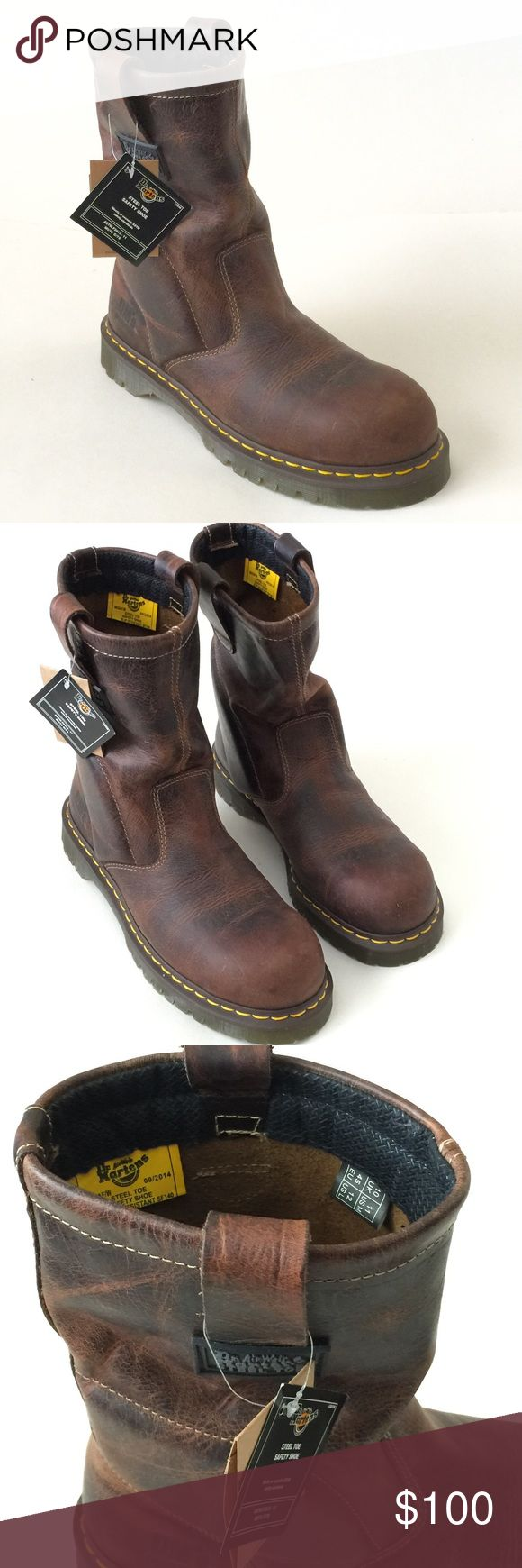 Dr Martens brown safety toe size us 11 boots Dr Martens safety toe brown tall boots. Size Us 11 new with tags no box Dr. Martens Shoes Boots
