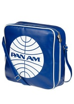 Whether you're flying the friendly skies or off running errands, this vintage airline cabin bag will make any outfit look first class! This official Pan Am product with an adorable lining features a roomy construction that can accommodate your collection of vintage records, or any other precious items you want safely stowed in the overhead compartment on you next Transatlantic flight!