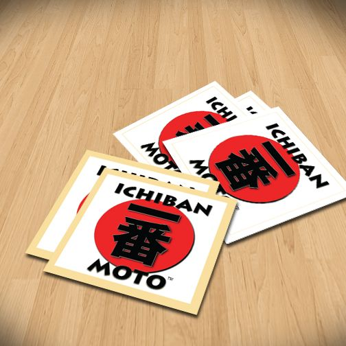 Ichiban moto standard vinyl stickers size 60mm standardvinylstickers vinylsticker sticker stickerprinting