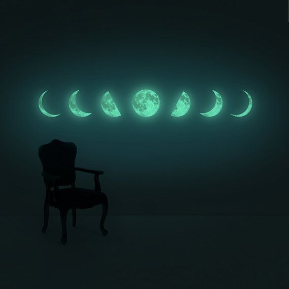 Moon Phase night-light wall-sticker Clair De Lune series  by i3Lab
