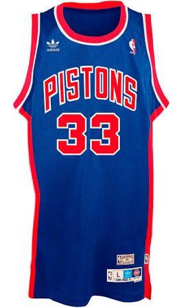 Grant Hill Detroit Pistons Adidas NBA Throwback Swingman Jersey - Blue  6803574cf