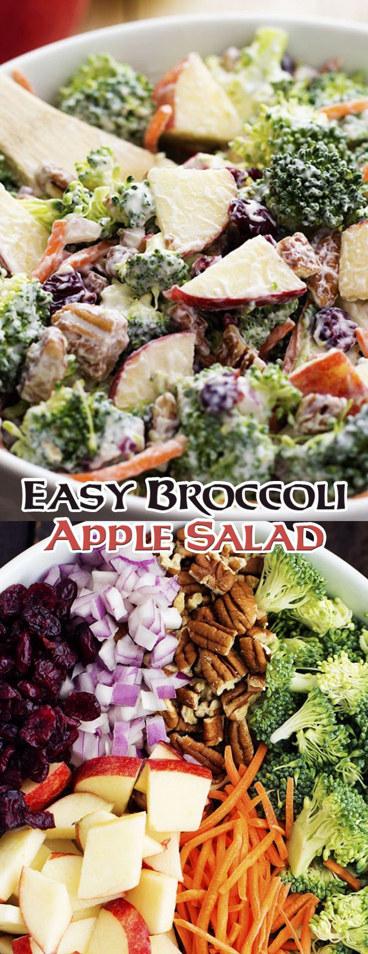Easy Broccoli Apple Salad. This was the best broccoli salad I ever made! #win