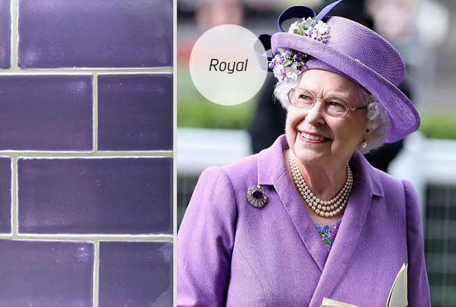 Royal purple glazed tiles. Made in New Zealand by Middle Earth Tiles.