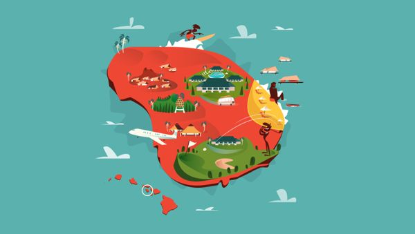 Map Of Lanai on Behance