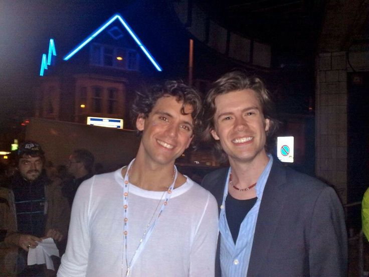 MIKA with actor, singer and musician Alastair James Murden, Blackpool 5.9.2009