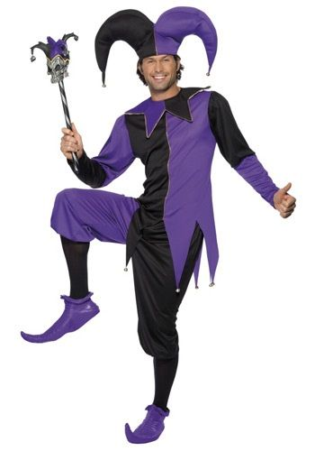 Entertain your ruler the way they did back in Medieval times! This Medieval Jester Costume will give you the spontaneous desire to perform in front of an audience.