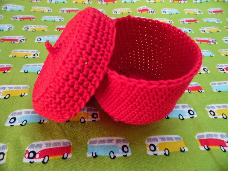 Hartgemaakt: Potjes en zakjes voor doopsuiker zelf haken en naaien