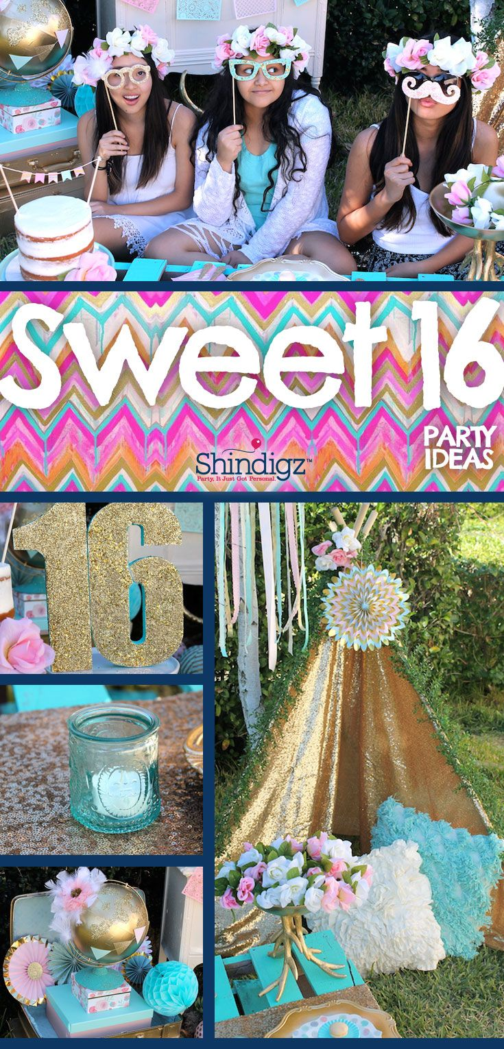 Celebrate your daughter's sweet 16 with party ideas from the Shindigz blog! Check out the Boho Sweet 16 Party that @lauraslilparty styled using Shindigz products! Explore all our Sweet 16 party supplies & save 10% promo code SZPINIT until 12/31/18 11:59 PM EST.