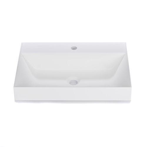 Vasque � poser en r�sine blanche - Tona