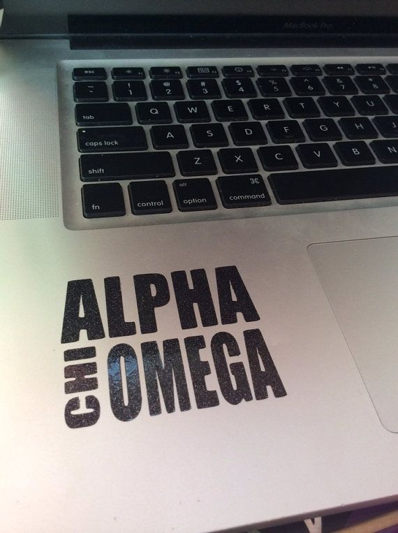 Alpha Chi Omega Block Decal by BowsAndClips on Etsy, $5.00 code PINTEREST for 15% off!