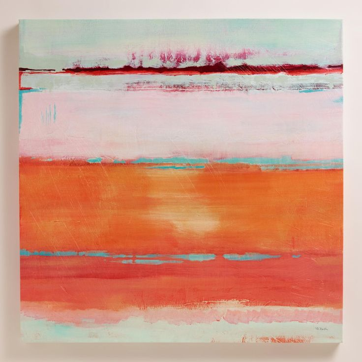 Persimmon jump alt by jill martin painting print on canvas
