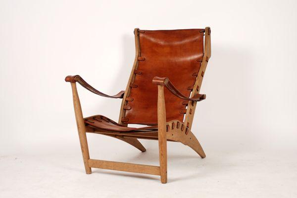 Mogens Voltelen The Copenhagen chair Made by Niels Vodder