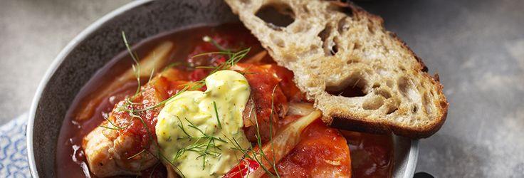 Fisksoppa med tomat och fänkål