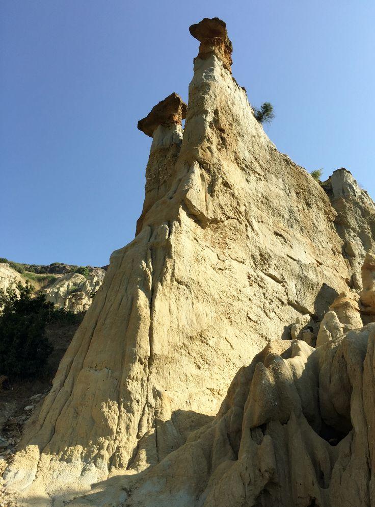 Fairy chimneys, Kula Geopark, Manisa, Turkey