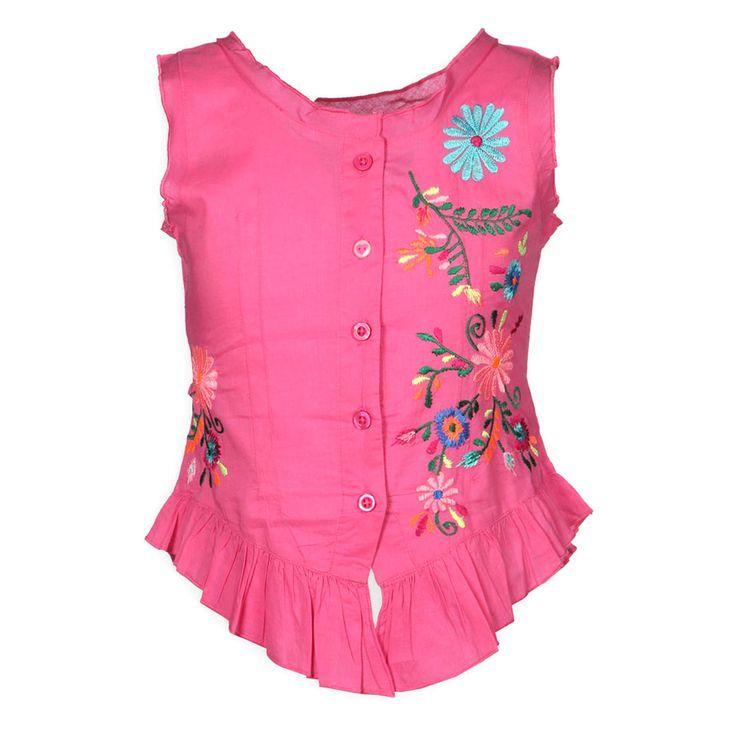 Kinderkleding, Kindermode en Babykleding - Kidsfashion Mimpi Meisjes Hemd Blouse Leyla Roze, Kienk