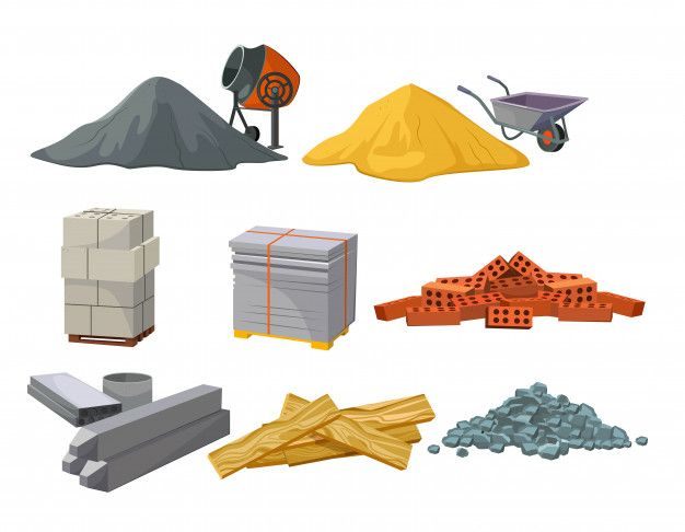 Download Building Material Heaps Set For Free Vector Free Free