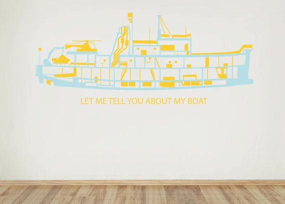 """The Life Aquatic """"let me tell you about my boat"""" decal of The Belafonte  For Live Guild @ Kinney Ave (The Life Aquatic)"""