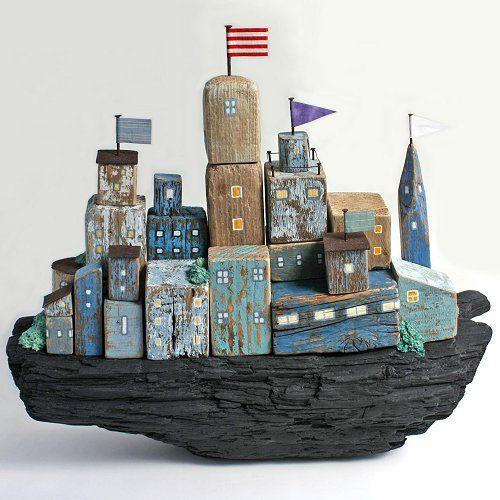 流木の船「OUR BOAT」by kobunecraft