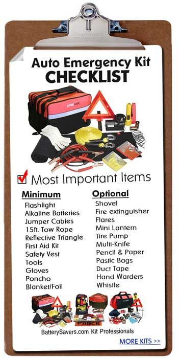 A Checklist For Adding Extra Safety Supplies To Your Roadside Auto Emergency Kit. Happy Travels Over Thanksgiving.....