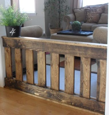 Love the look...instead of the plastic child or pet fence for the indoors.