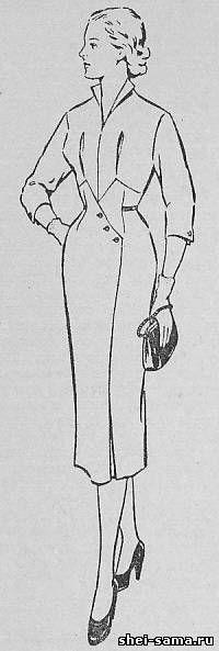 Платье с фигурной завышенной линией талии - Сто фасонов женского платья - Всё о шитье