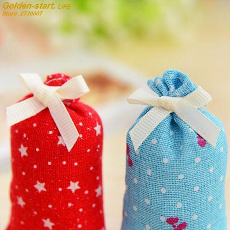 10pcs/Lot  Natural Scented Fragrance Bag Wardrobe Drawer sachets dehumidified air purification Car Perfume gift box