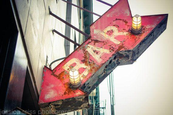 Bar Sign Bar Decor Vintage Rustic Industrial by jessicareisspix, $15.00
