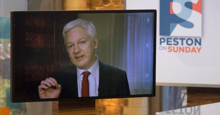 Now Julian Assange is tweeting at Trump for some reason
