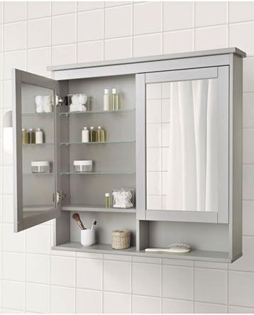 HEMNES Spiegelschrank 1 Tür, Weiß
