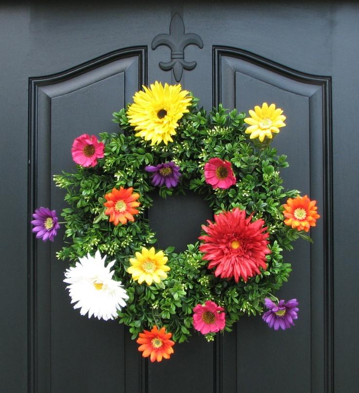 114 Best Door Decor Images On Pinterest Crowns Garlands