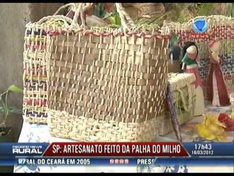 Record News Rural - Artesanato feito da palha do milho - YouTube