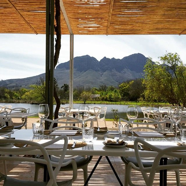 Amazing view during the lunch #95atMorgenster #newrestaurant #instafood #finewines #Sometsetwest #Stellenbosch #Westcape #mountains #lake