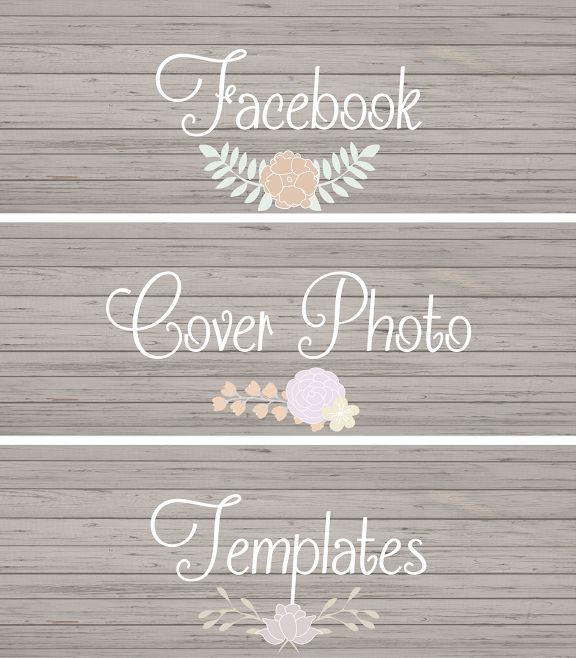 Chic Facebook Cover Photo Templates. Such a fun and unique way to spruce up your Facebook profile!