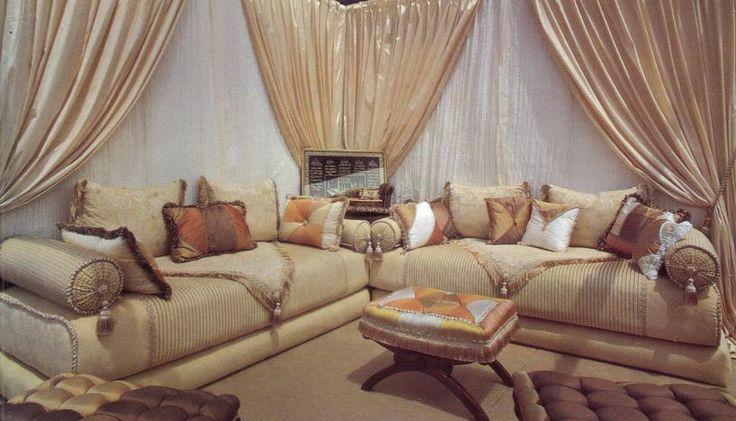 Salon marocain confortable