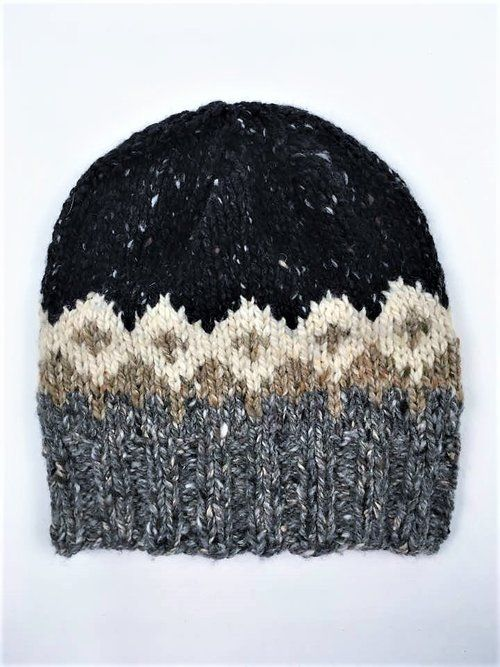 Clyde Hat, Free Pattern! Knit in The Fibre Co Arranmore