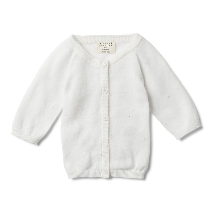 Lightweight knitted cardigan is perfect for summer and makes the perfect layering piece.  #wilsonandfrenchy #babystyle #babygirl #cardigan #baby #fashion #unisex #babylove #perfectbabies  #unisexbabyclothes  #newmum #babygift #babyshower #australiandesign #shopbaby #mumsunite #babylove #magicofchildhood #little