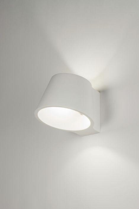 Wandlamp 72433: Modern, Landelijk, Rustiek, Wit